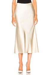 Calvin Klein Collection Kristina Silk Satin Skirt In Neutrals