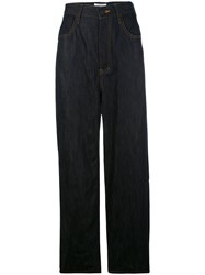 Enfold Wide Leg Flared Trousers Blue