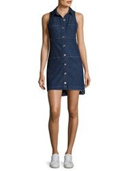 7 For All Mankind Step Hem Denim Shirtdress Lux Lougdn