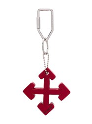 Off White Arrows Key Ring Red