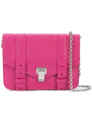 Proenza Schouler Ps1 Mini Crossbody Women Leather One Size Pink Purple