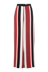 Zeus Dione Wide Leg Striped Silk Pants Multicolor