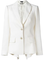 Alexander Mcqueen Tailored Blazer White