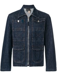 Jean Paul Gaultier Vintage Zip Through Denim Jacket Blue