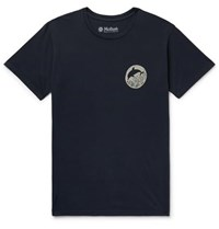 Mollusk Dolphin Printed Cotton Jersey T Shirt Navy