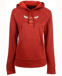 Adidas Women's Chicago Bulls Logo Pullover Hooded Sweatshirt Red