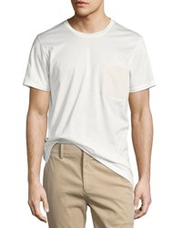 Berluti Leather Pocket Cotton Jersey T Shirt Ivory