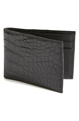 Men's Boconi Alligator Slimfold Wallet Black