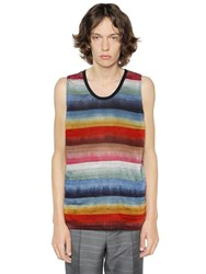 Lanvin Rainbow Striped Cotton Sleeveless Top
