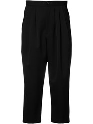 Comme Des Garcons Drop Crotch Cropped Trousers Black