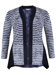 Chesca Tie Dye Stripe Fancy And Plain Jersey Cardigan Navy