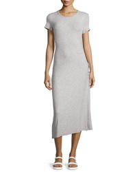 Theory Jilaena Short Sleeve T Shirt Dress Frosted Grey