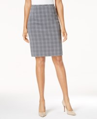 Tommy Hilfiger Plaid Pencil Skirt Charcoal