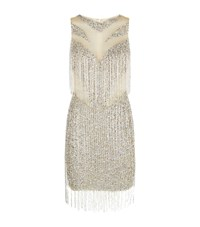 Jovani Embellished Fringe Detail Dress Female Silver