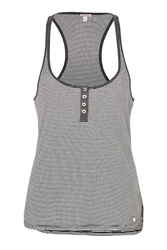 Juicy Couture Angel White Black Striped Jersey Tank