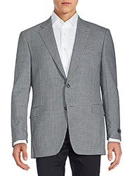 Saks Fifth Avenue By Samuelsohn Checked Wool Sportcoat Black White