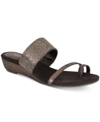 Styleandco. Style Co. Women's Heidee Embellished Wedge Sandals Only At Macy's Women's Shoes Black