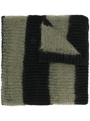 Mcq By Alexander Mcqueen Striped Scarf Polyamide Cashmere Mohair Wool Green