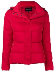 Emporio Armani Padded Puffer Jacket Red
