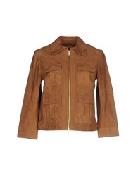 Stefanel Coats And Jackets Jackets Women Brown