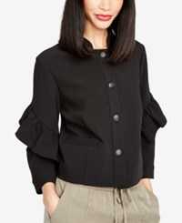 Rachel Roy Ruffled Jacket Black