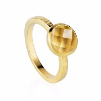Neola Estella Gold Stacking Ring With Citrine