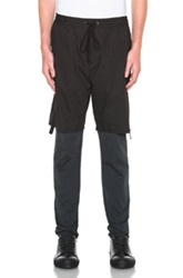 3.1 Phillip Lim Hybrid Lounge Pants With Poplin Shorts In Black