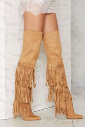 Nasty Gal Up To There Over The Knee Boots Tan