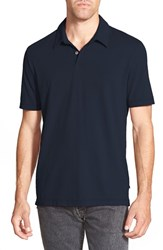 Men's James Perse Trim Fit Sueded Jersey Polo Deep
