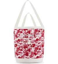A Bathing Ape Camouflage Cotton Shoulder Tote Pink