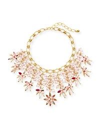 Sequin Pink Pearly Swarovski Crystal Statement Necklace