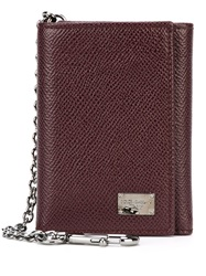 Dolce And Gabbana Clip Chain 'Dauphine' Wallet Red