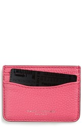 Women's Marc Jacobs 'Gotham' Leather Card Case Pink Begonia