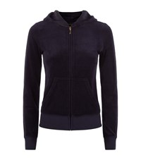 Juicy Couture Collegiate Velour Hooded Sweater Female Navy