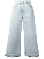 Msgm Flared Cropped Jeans Blue