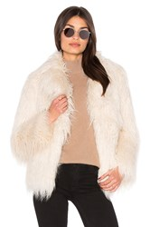 Majorelle Molly Faux Fur Coat Ivory