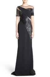 Pamella Roland Women's Sequined Silk Gown