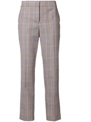 Dorothee Schumacher Cropped Plaid Trousers Black