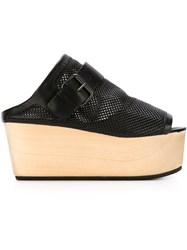 Marsa Ll Perforated Wedge Sandals Black
