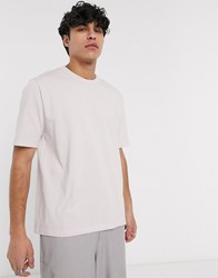 Asos White Loose Fit T Shirt In Lilac Purple