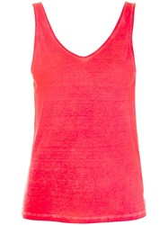 Majestic Filatures Hand Dyed Tank Top Red