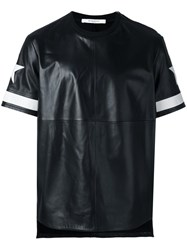 Givenchy Star Print Leather T Shirt Black