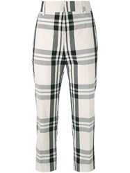 Sofie D'hoore Check Cropped Trousers Black