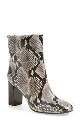 Women's Tory Burch 'Devon' Round Toe Ankle Boot Snake Print Leather