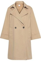 Iris And Ink Woman Rorik Double Breasted Cotton Twill Trench Coat Sand