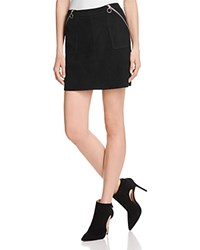 Paige Elsie Suede Mini Skirt Black
