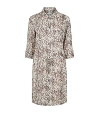 Heidi Klein Zanzibar Python Print Shirt Dress Multi