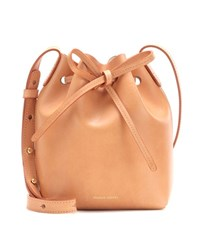 Mansur Gavriel Mini Mini Leather Bucket Bag Beige