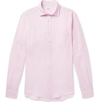 Hartford Paul Slub Linen Shirt Lilac