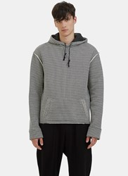 Aganovich Houndstooth Hooded Sweater Black
